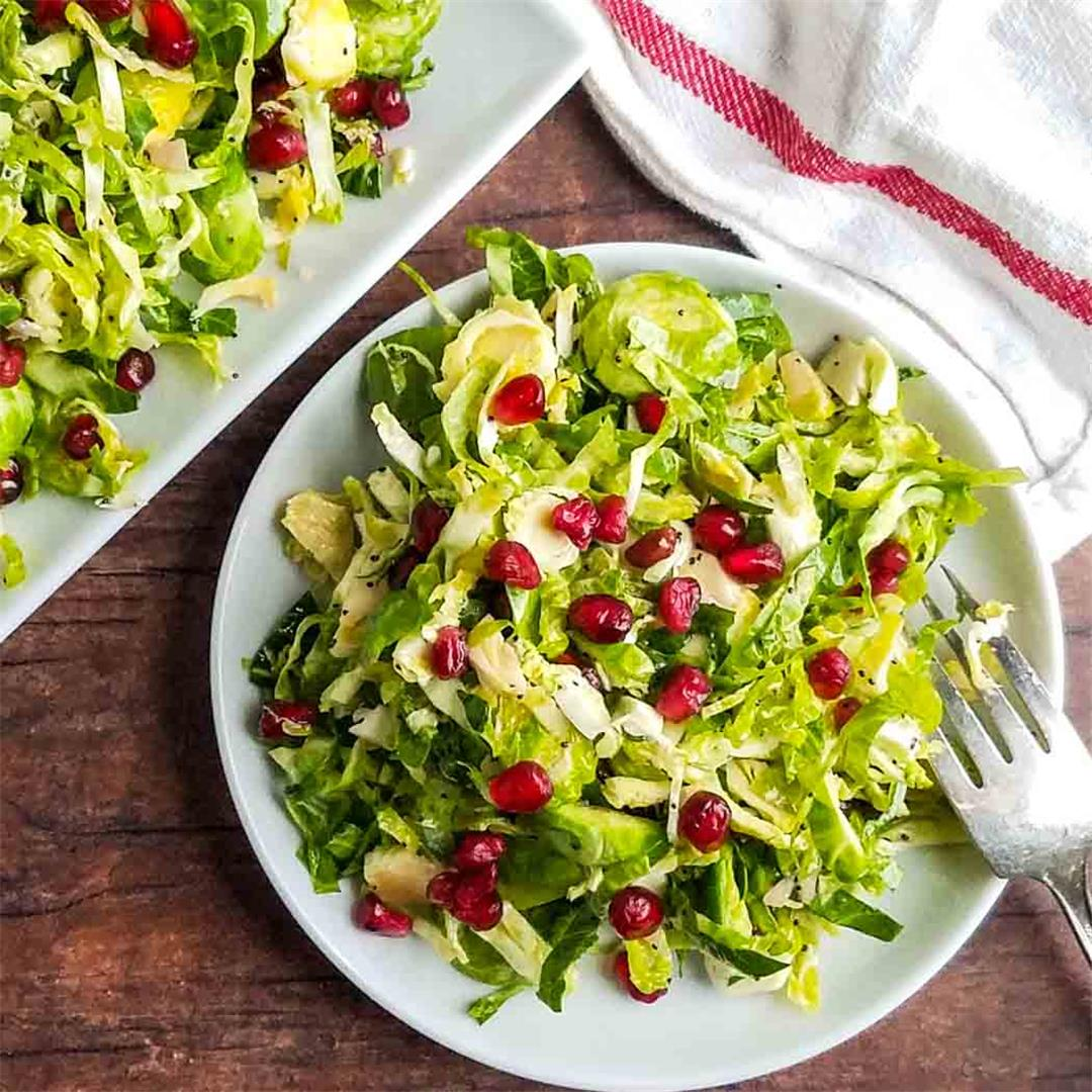 Shaved Brussels Sprout and Pomegranate Salad