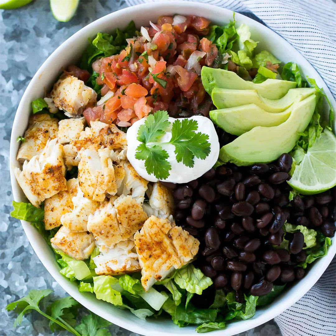 Fish Taco Salad Bowl
