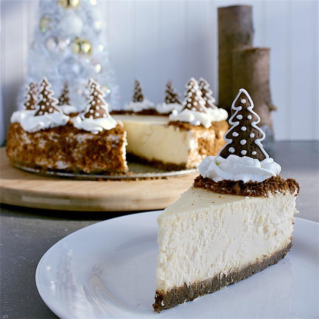 Gingerbread Crust Cheesecake