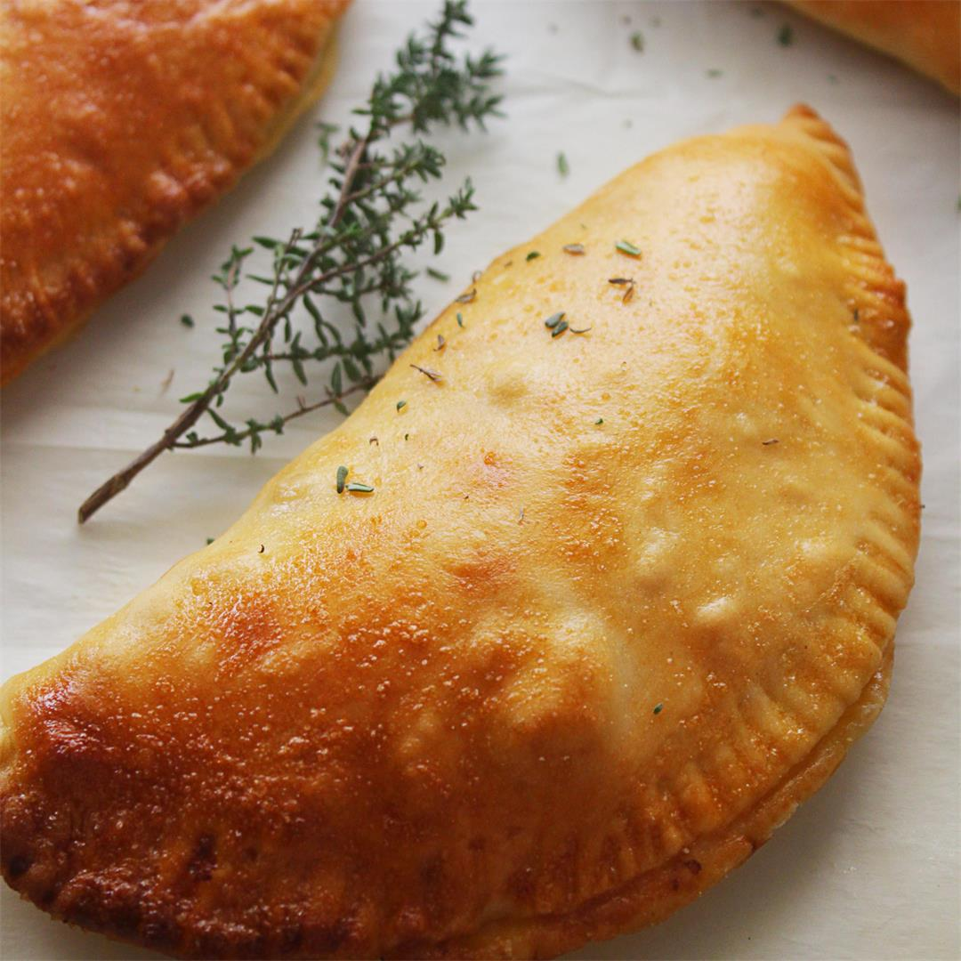 Mini Pita Bread Hand Pies with Feta Cheese
