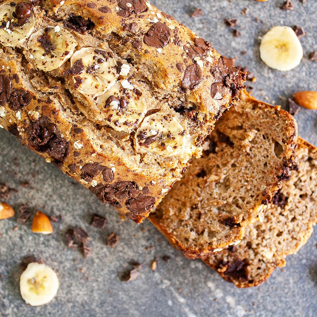 Dairy-Free Chocolate Chips and Almond Banana Bread