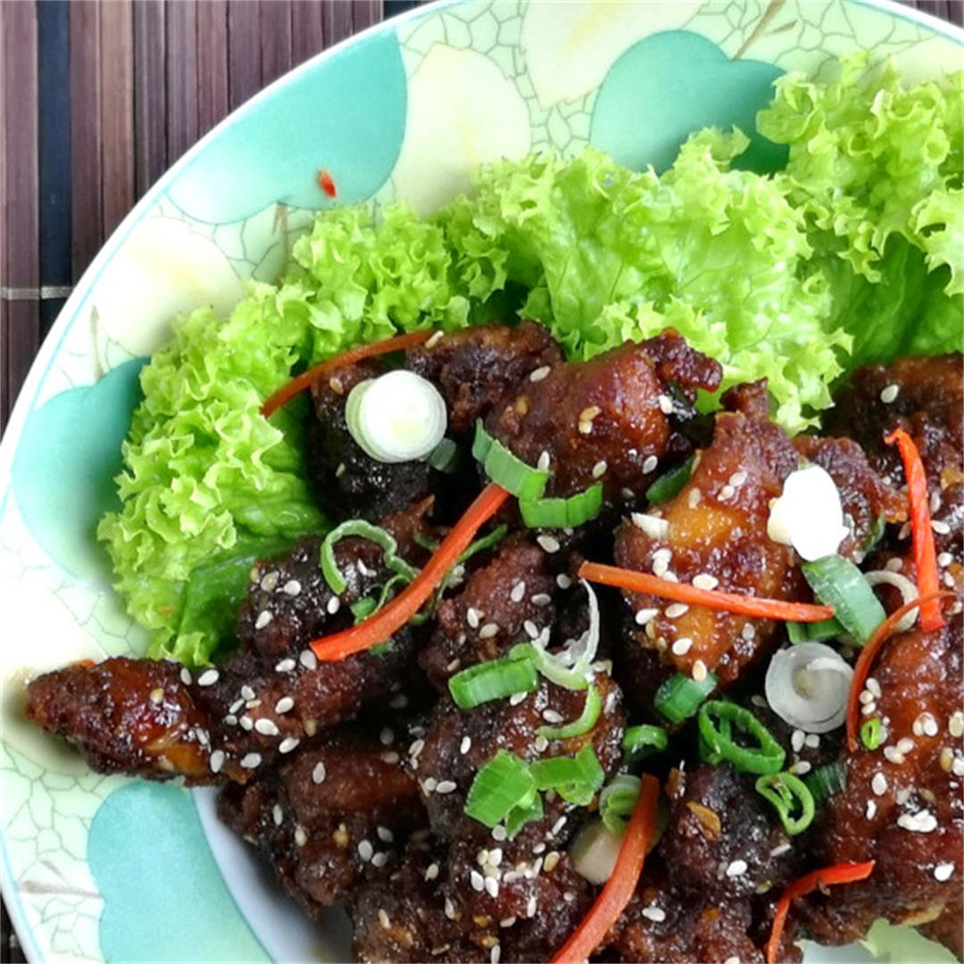 Sesame chicken 蜜汁芝麻鸡