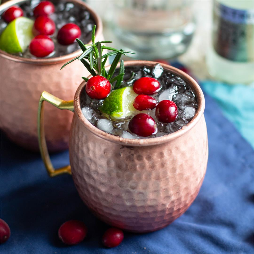 Cranberry Vanilla Moscow Mules