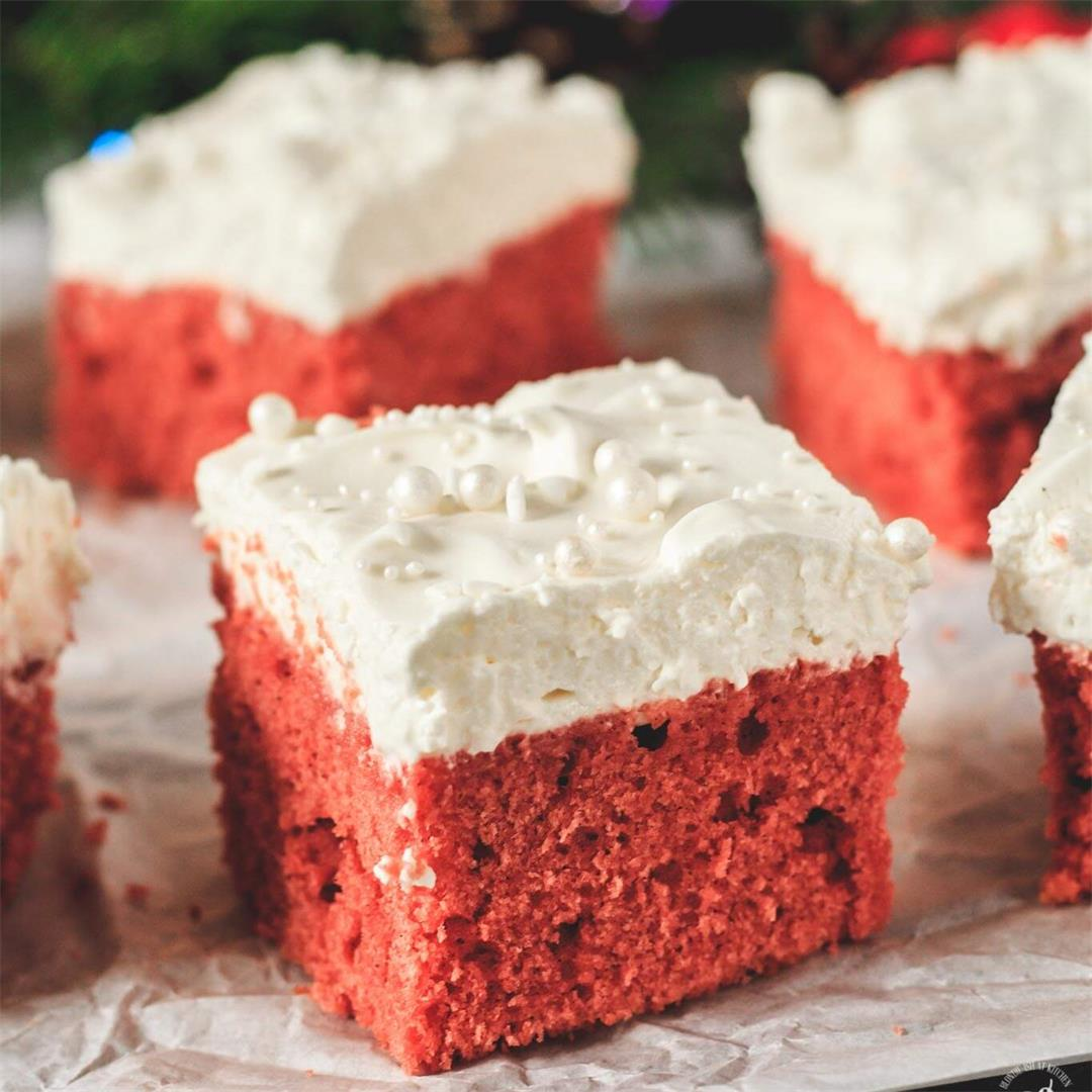 Christmas Gingerbread Red Velvet Bars