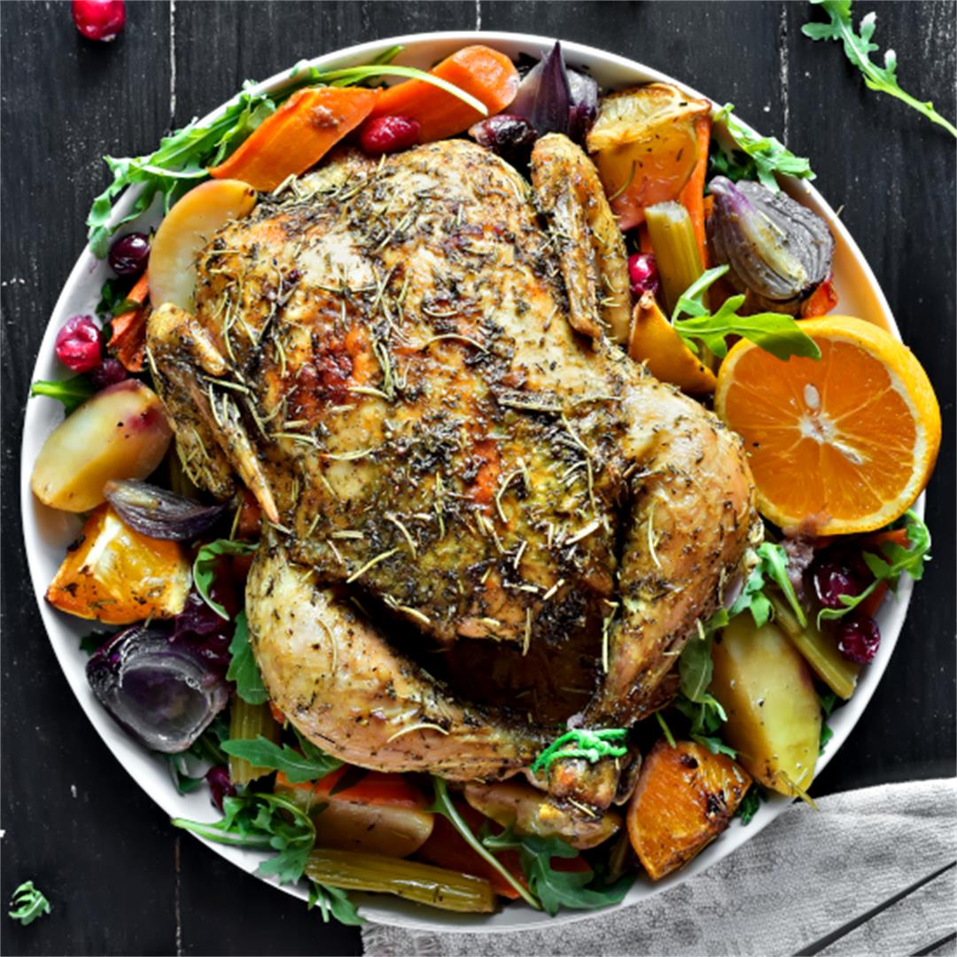 Roasted Chicken and Vegetables – Whole Chicken Recipes