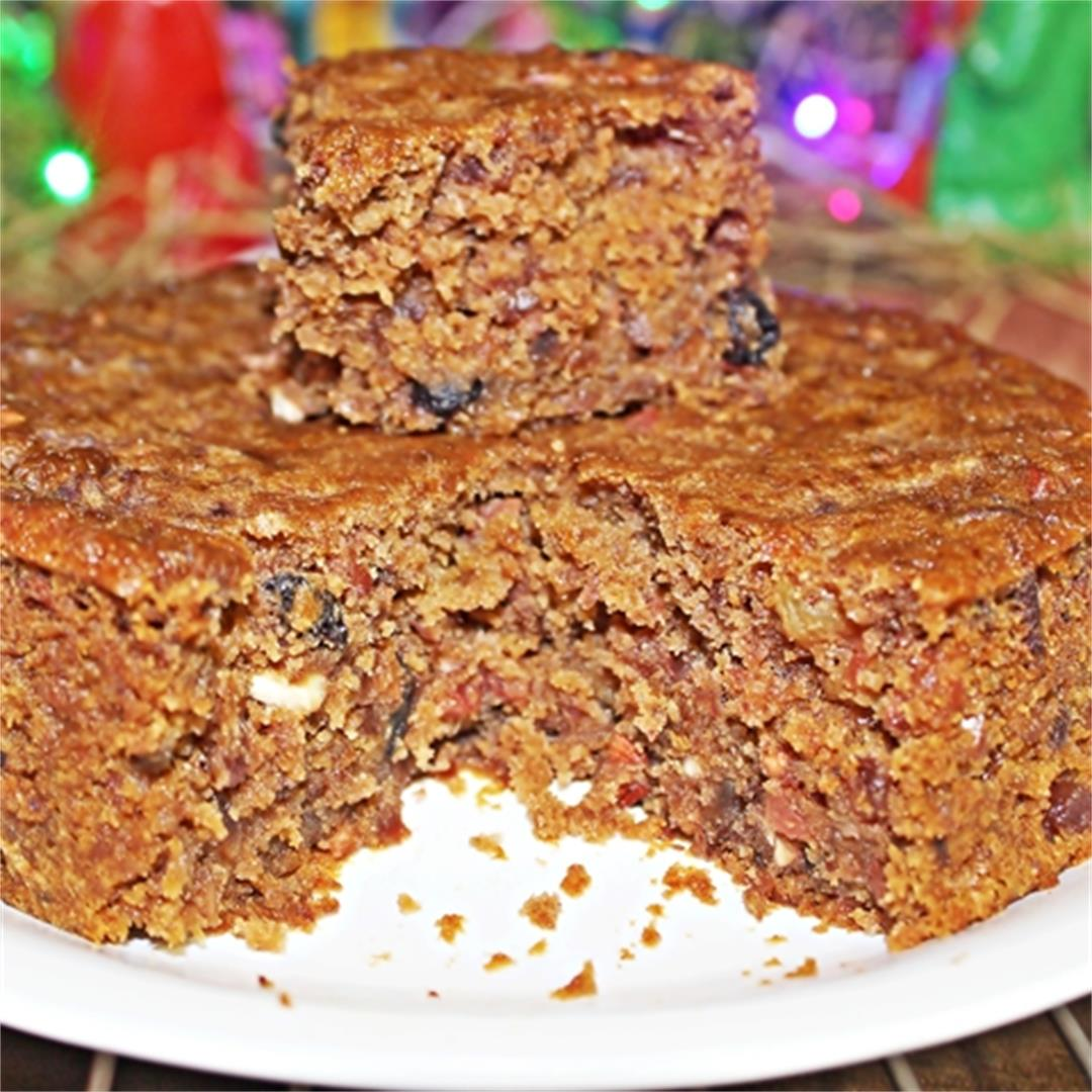 Traditional Christmas Plum Cake Recipe Using Grape Juice