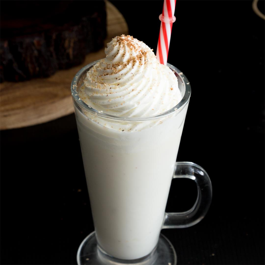 Homemade Eggless Eggnog Recipe