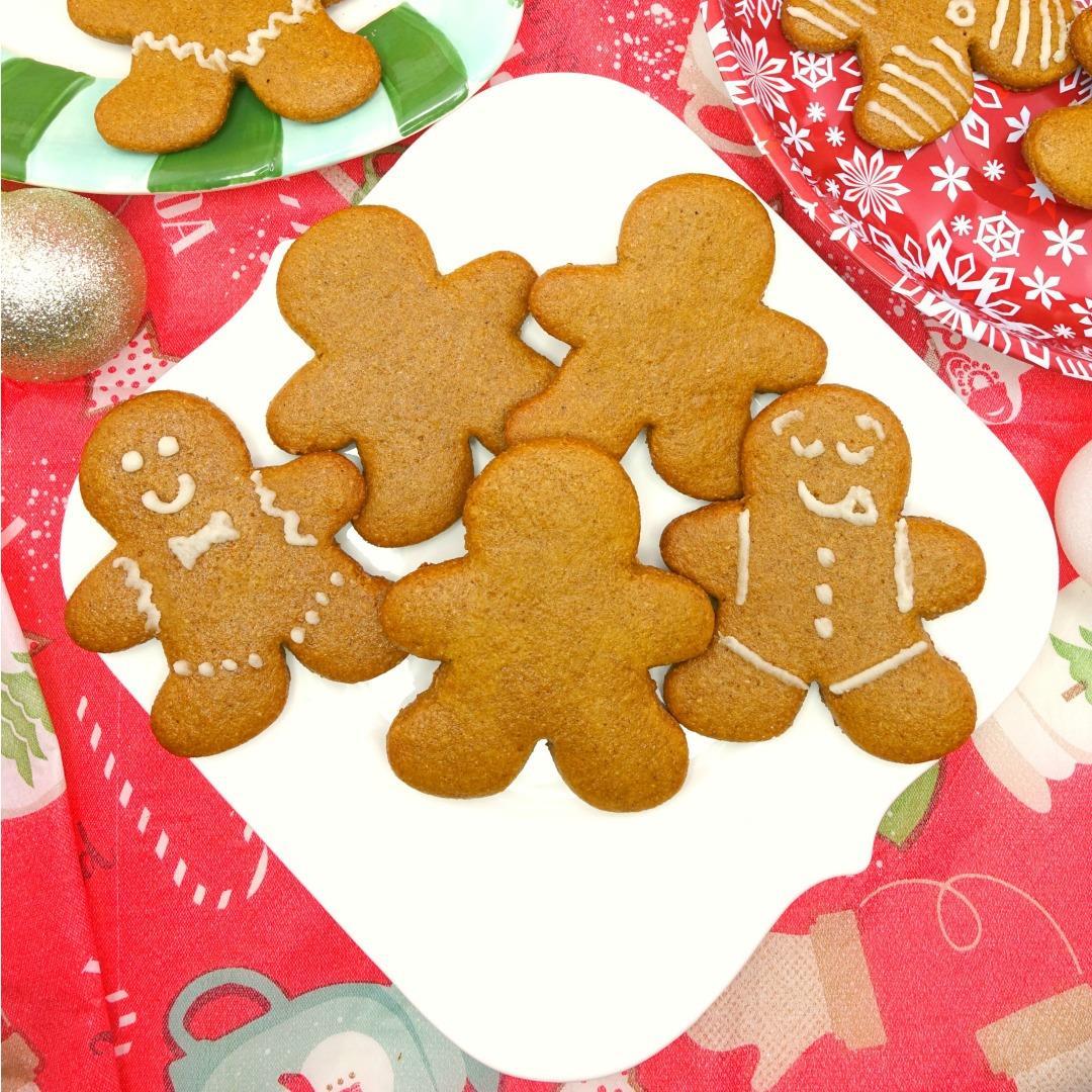 Paleo & Vegan Cut-Out Gingerbread Men Cookies