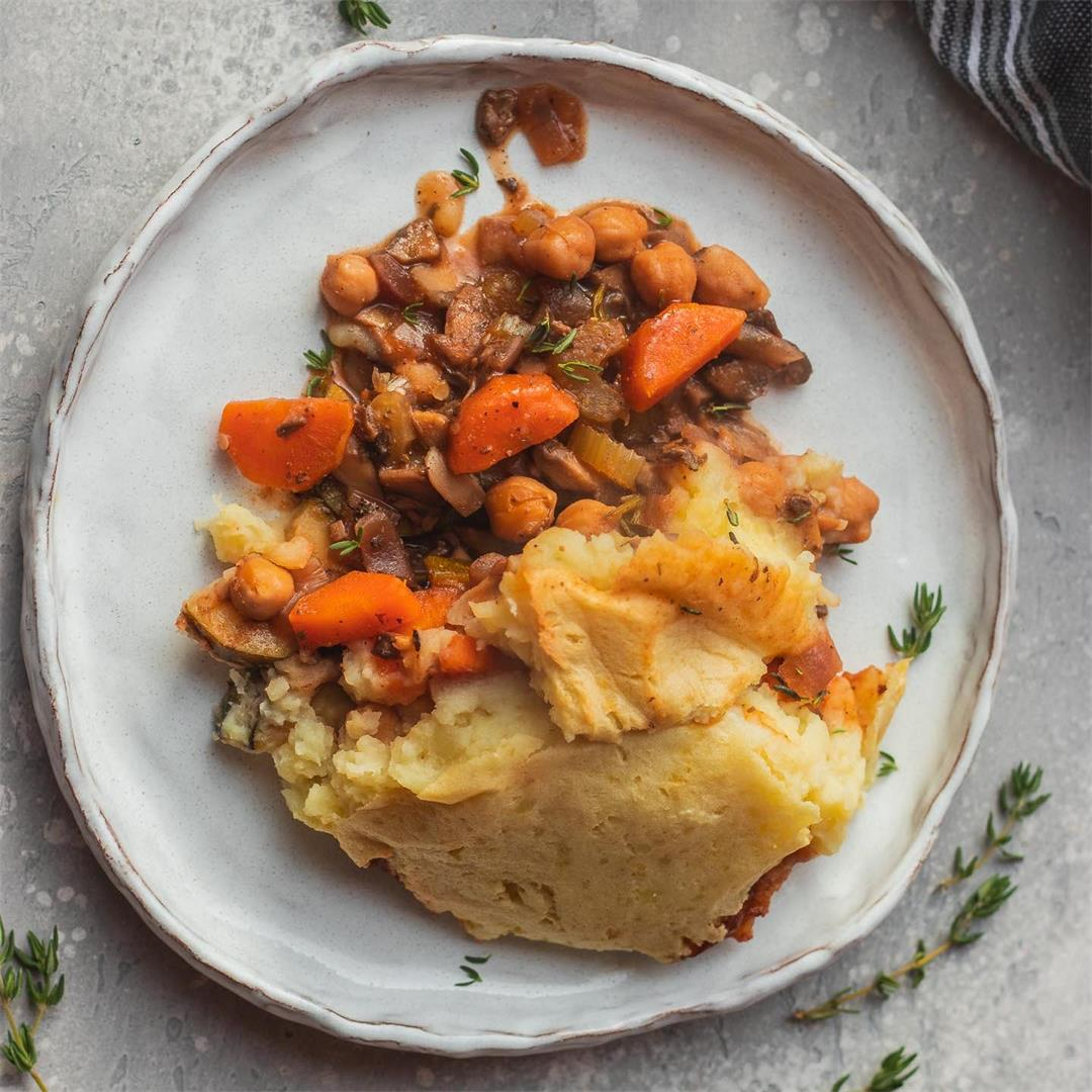 Vegan chickpea Shepherd's pie