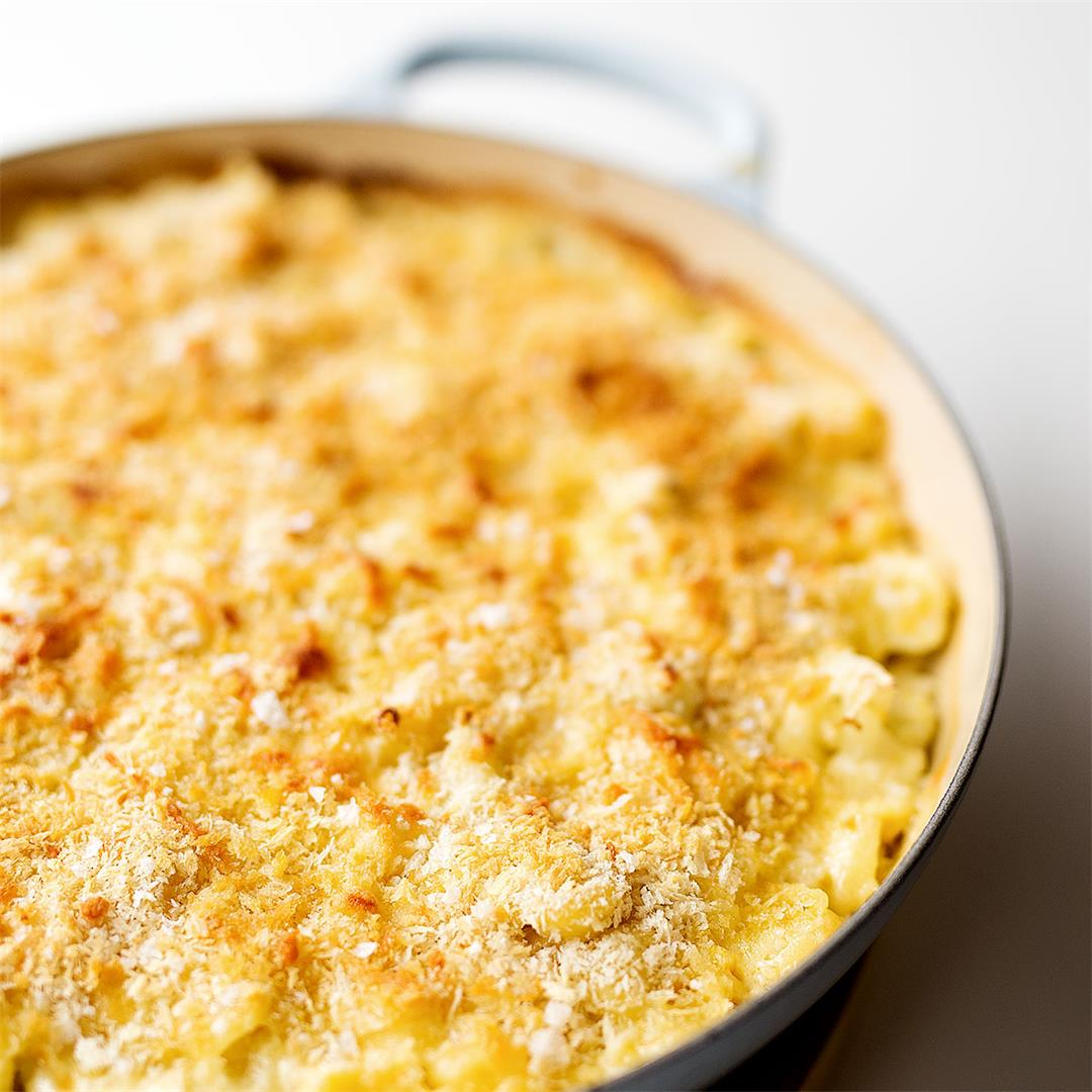 Cauliflower and Corn Mac and Cheese