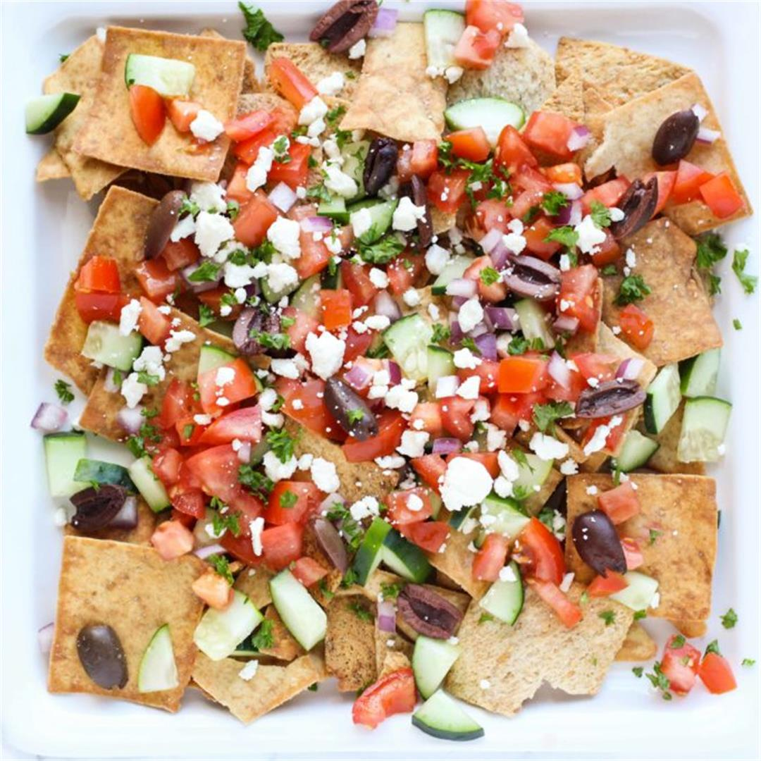 Easy Greek Nachos