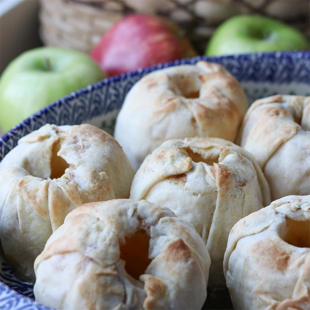 Healthier Homemade Apple Dumplings