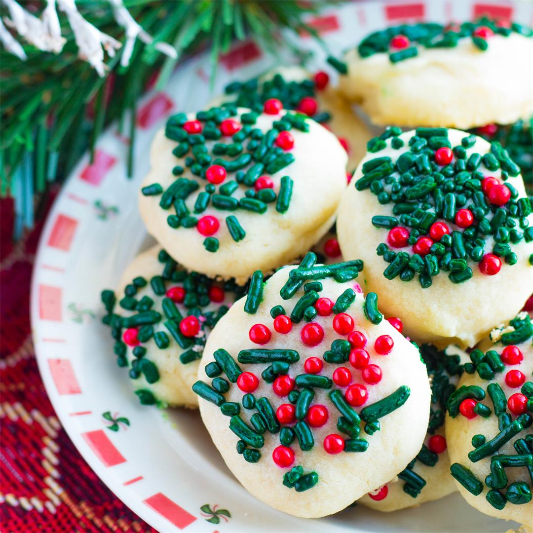 Christmas Butter Cookies with Sprinkles