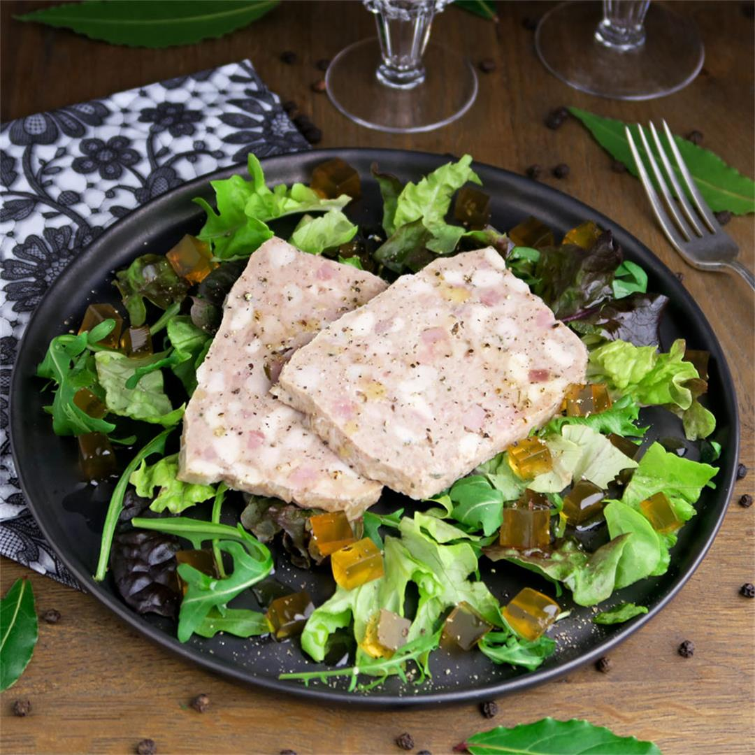 French country terrine made with veal, pork, chicken and ham