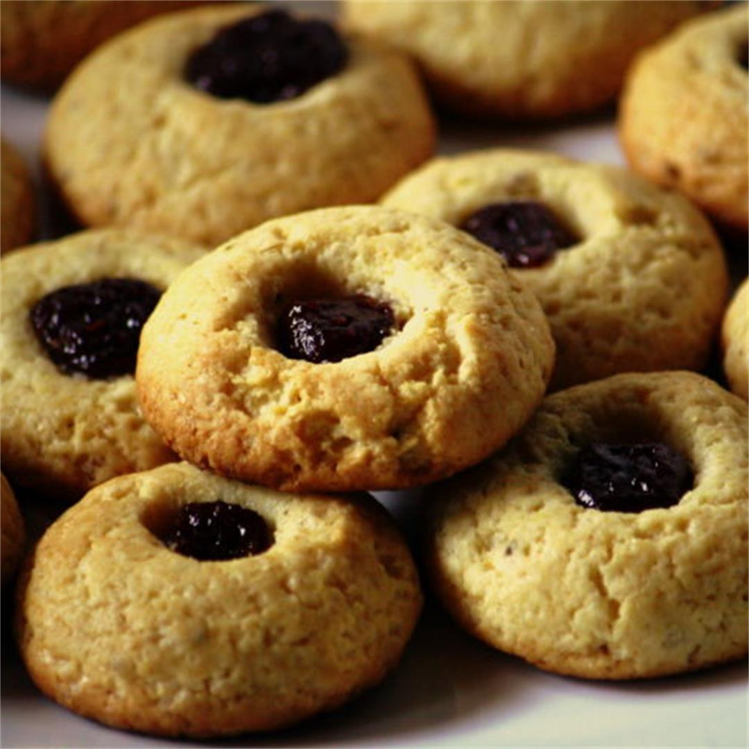 Anise seed & guava thumbprint cookies