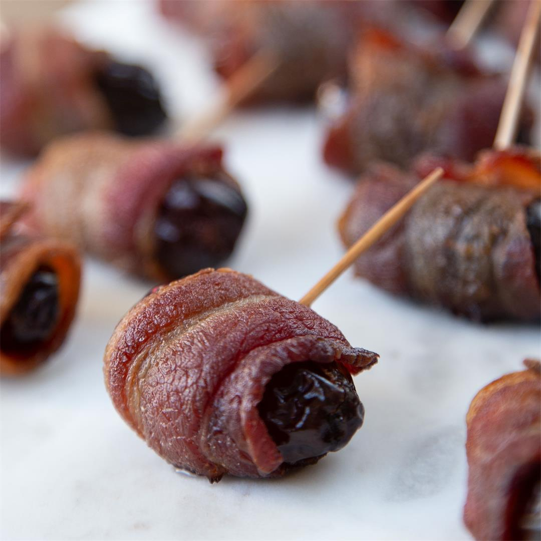Bacon Wrapped Dates & more 2 ingredient appetizers