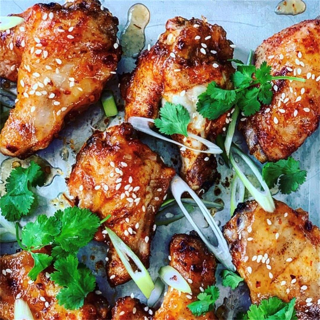Pineapple, chili & ginger glazed chicken wings