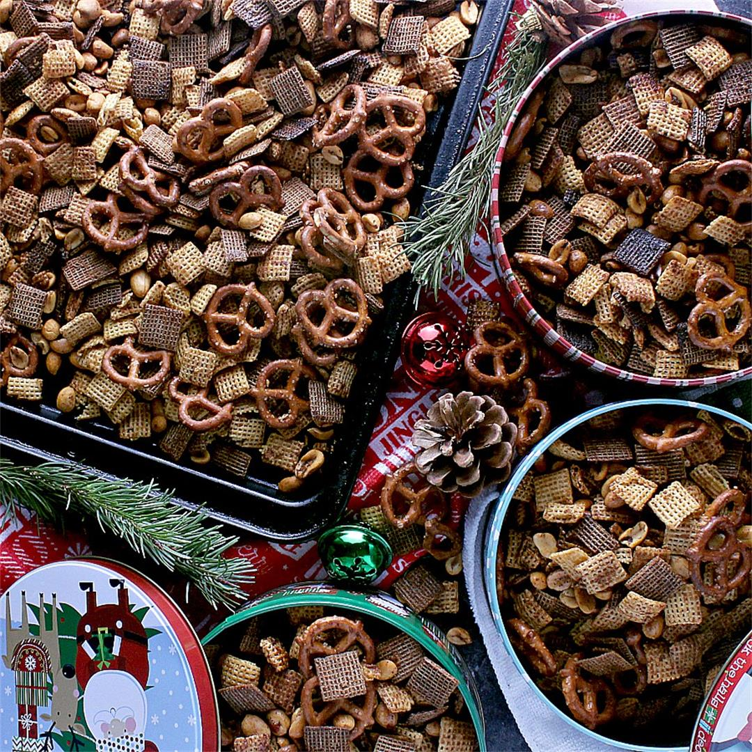Addicting Christmas Chex Mix