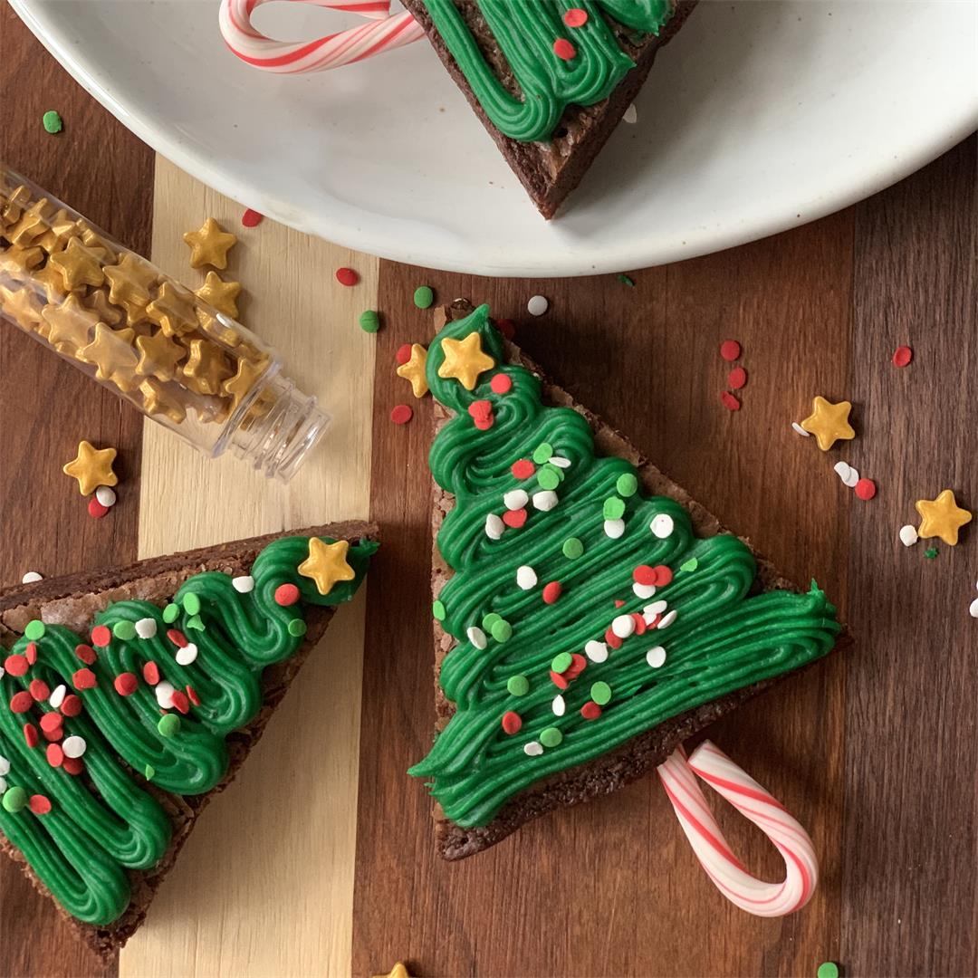Brownie Christmas Tree