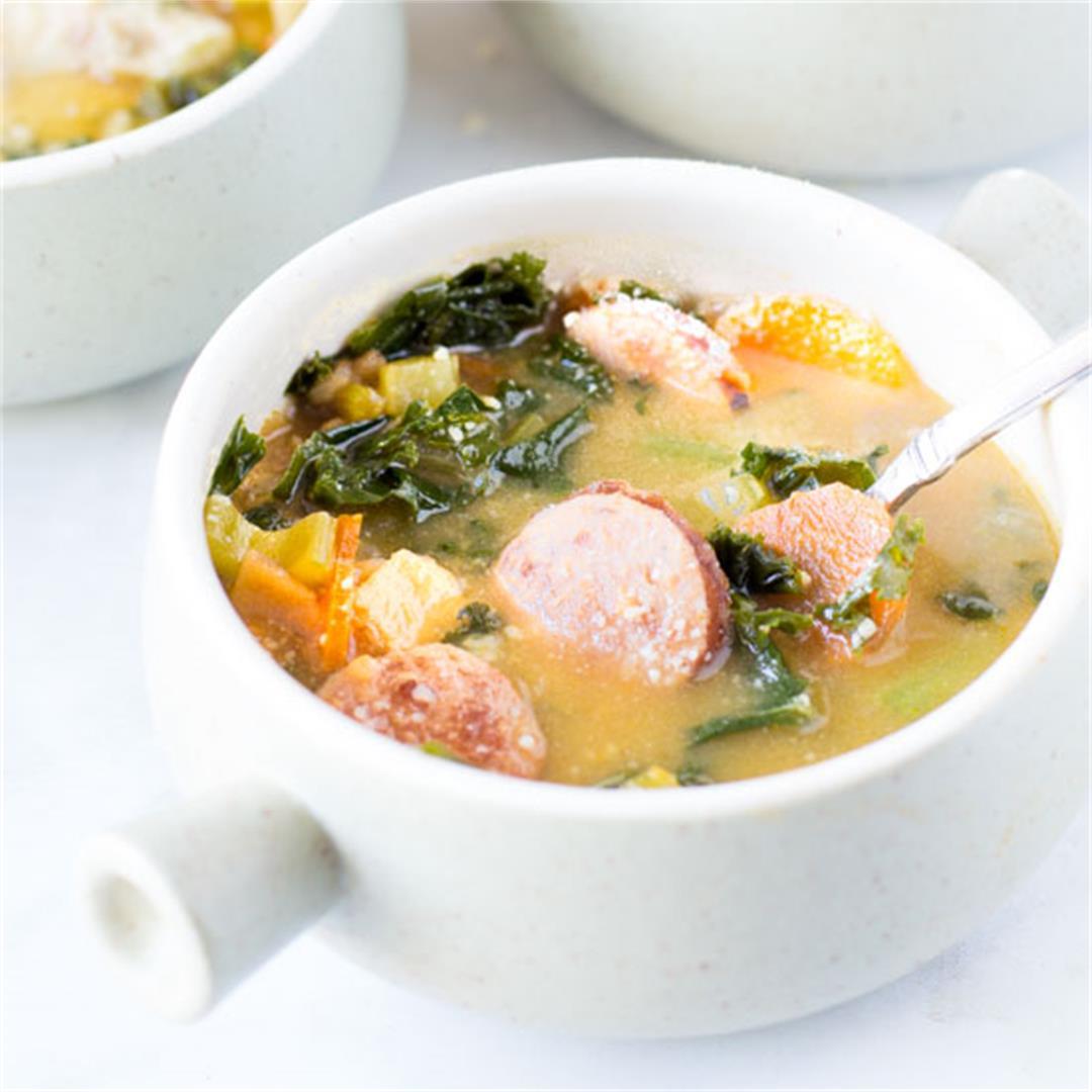 Kielbasa Sausage Vegetable Soup