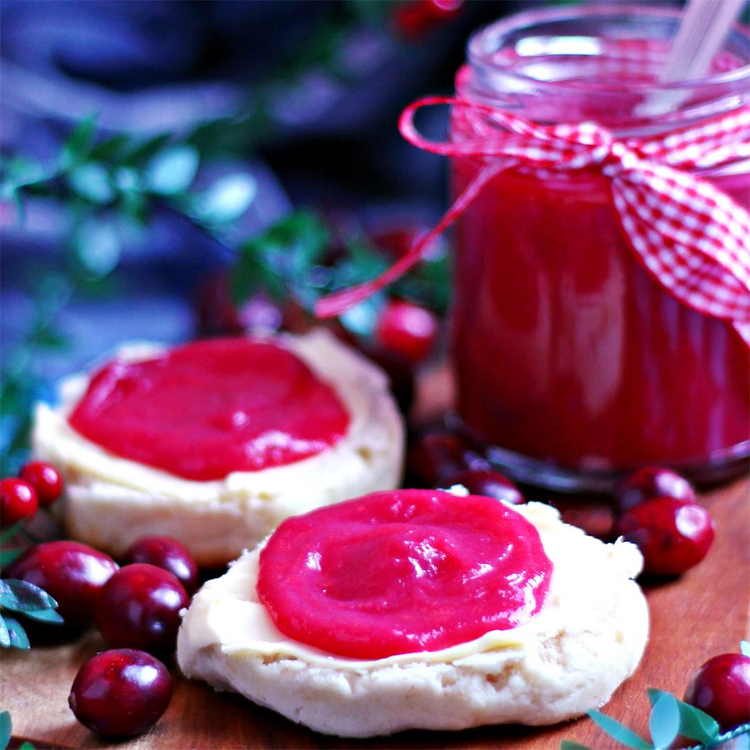 Easy Cranberry Curd with Power Blender Option