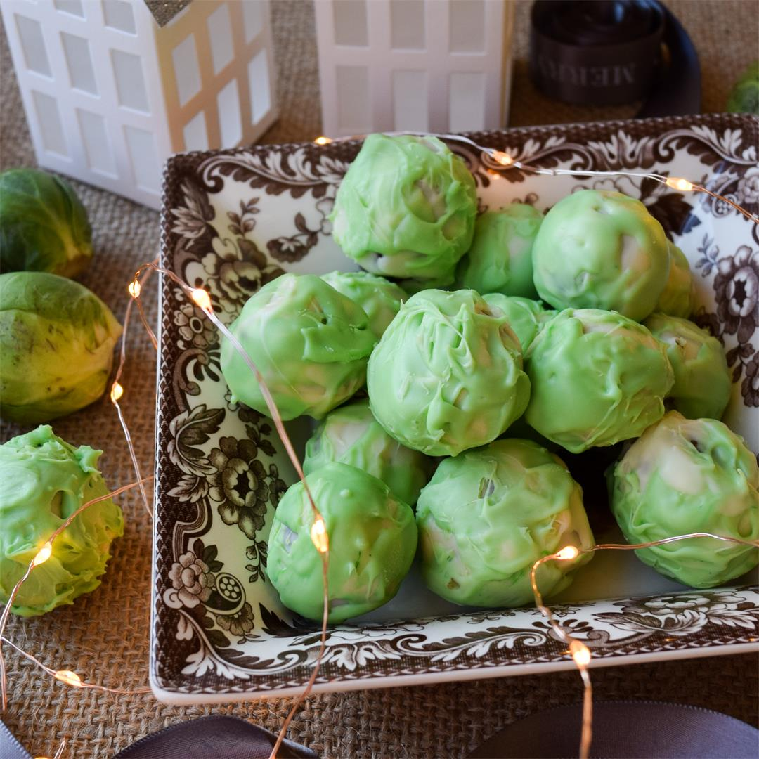 Boozy Brussels Sprout Chocolate Truffles