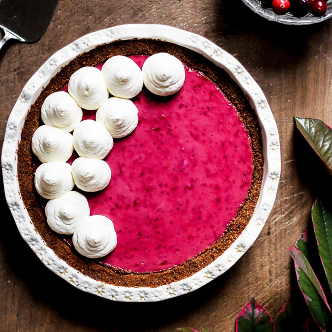 Cranberry Cream Pie