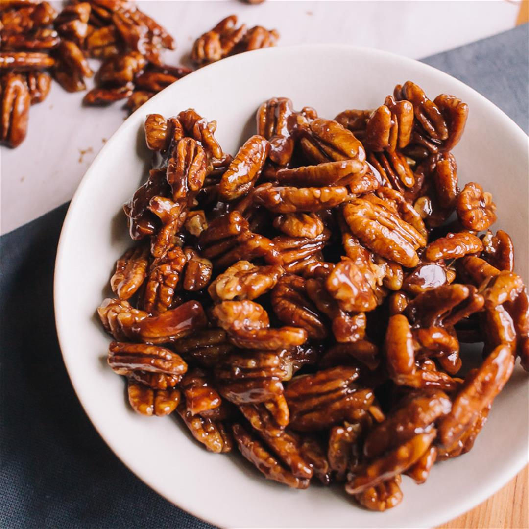 Easy Stovetop Low Carb Candied Pecans