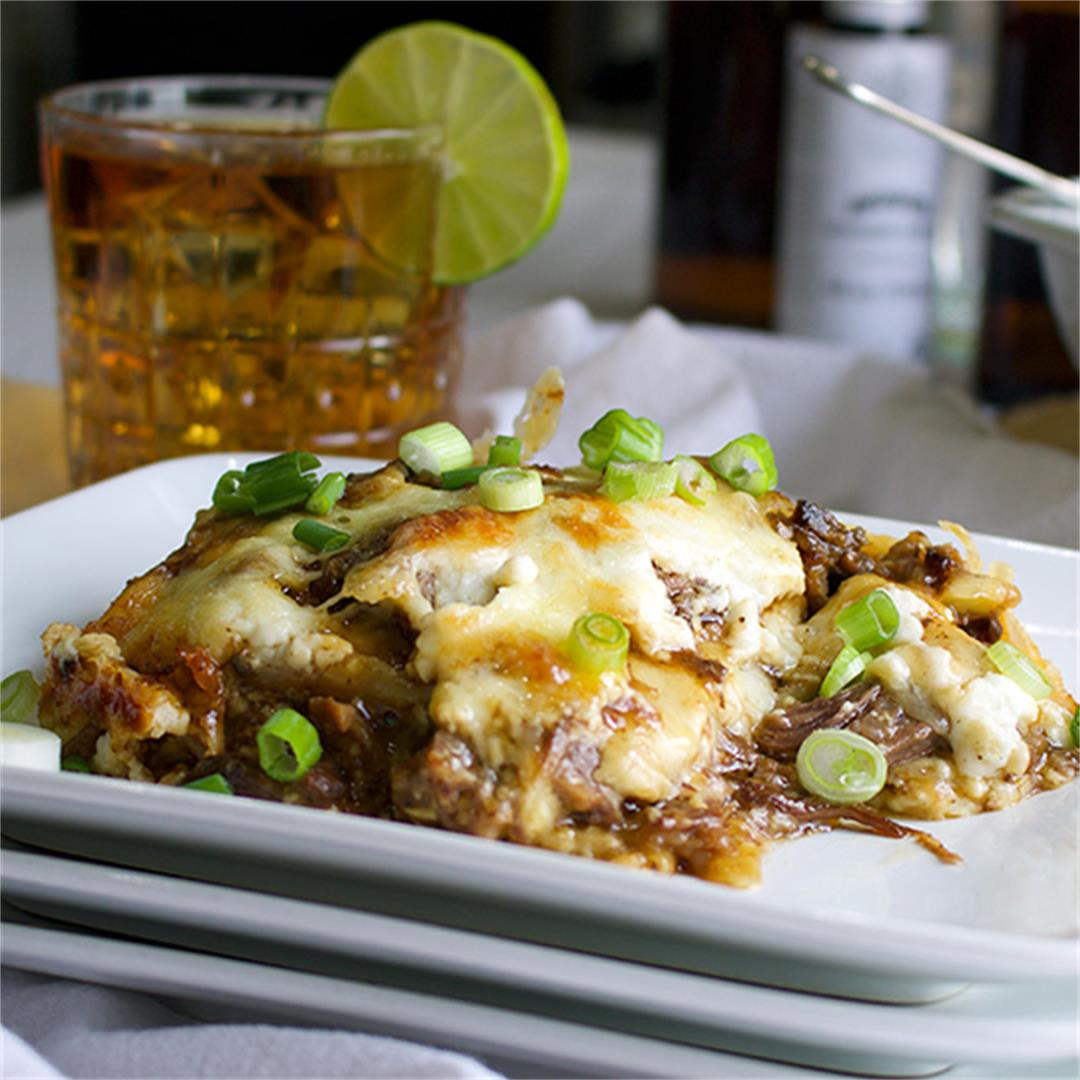 Slow Cooker Short Rib Lasagna with Béchamel Sauce