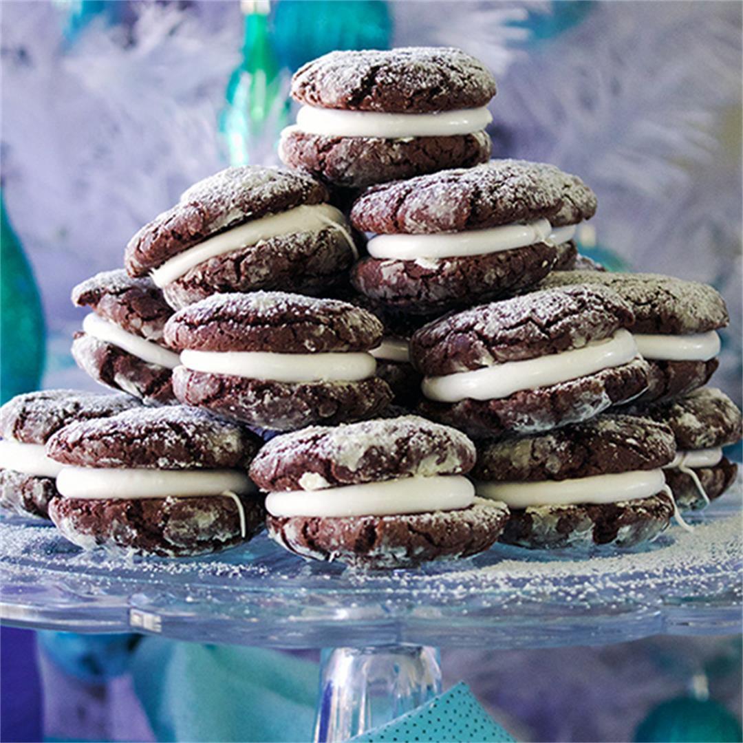 Marshmallow Brownie Krinkle Cookies