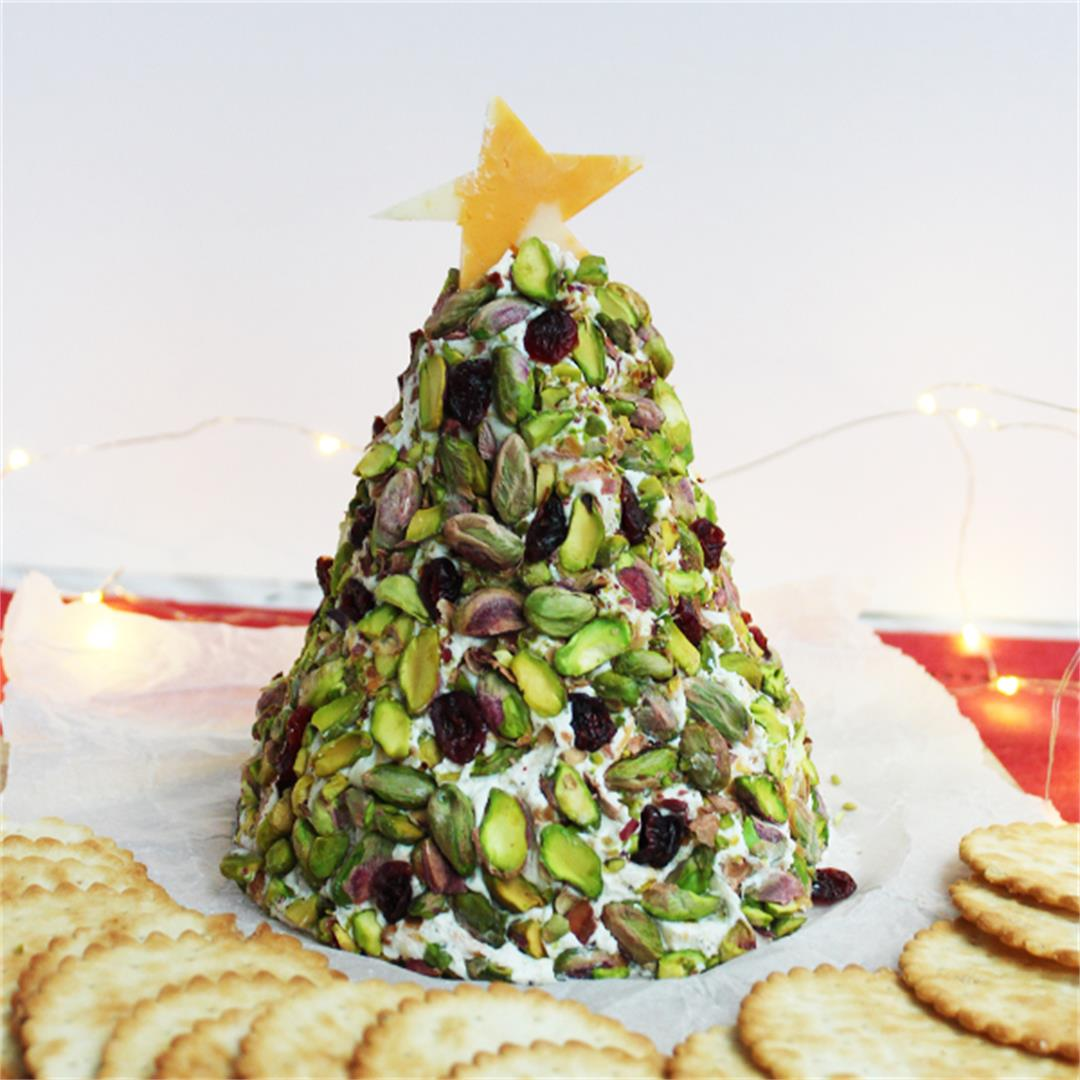 Christmas Tree Cheese Ball - easy and fun!