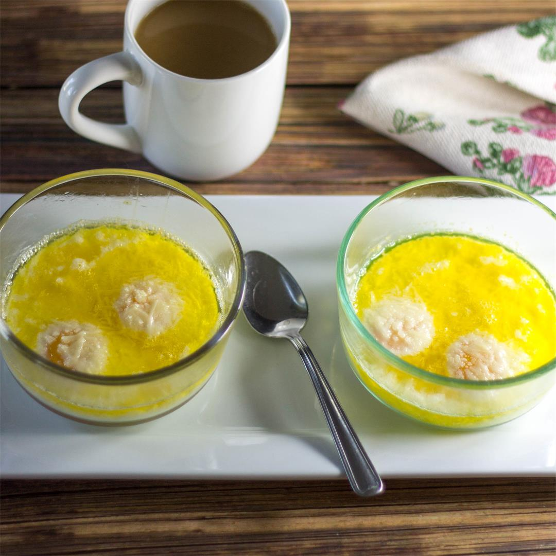 Buttery Asiago Baked Eggs