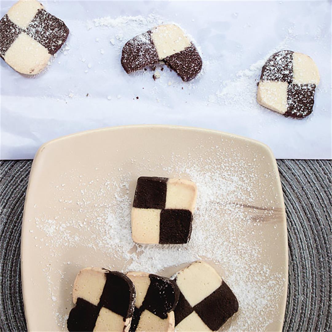 Lovely easy crisp German checkerboard cookies