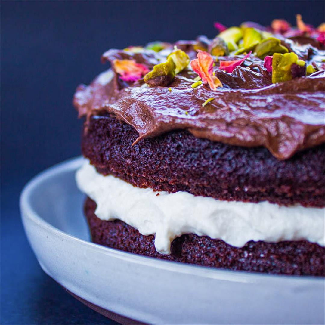 Chocolate Glop Cream Cake (vegan + gf)