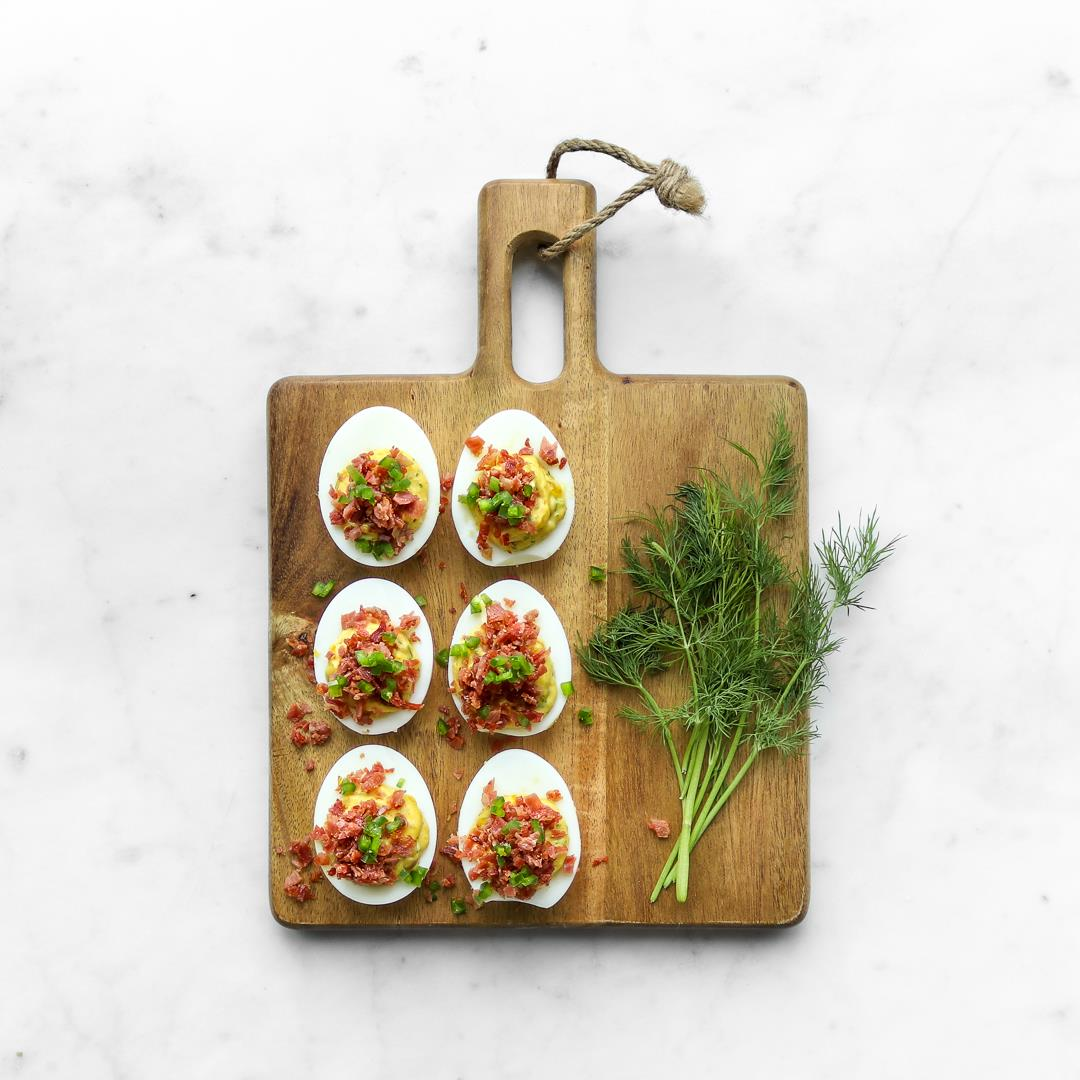 Deviled Eggs with Bacon & Jalapeño