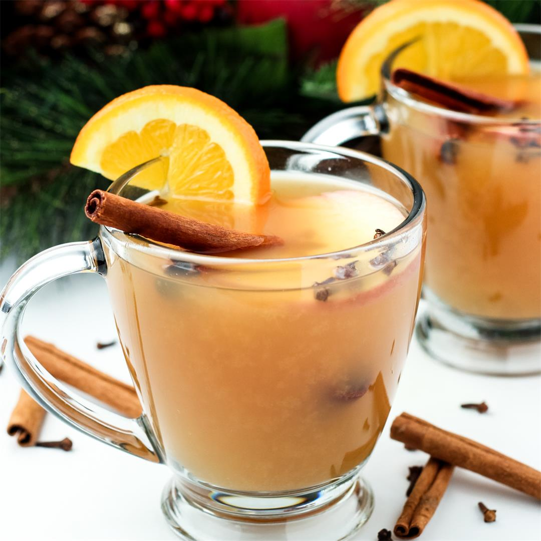 Easy Holiday Wassail - Stovetop & Slow Cooker Options