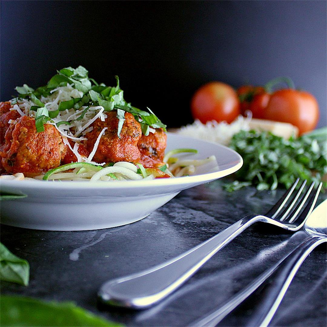 Low Carb Spaghetti and Meatballs with Zoodles