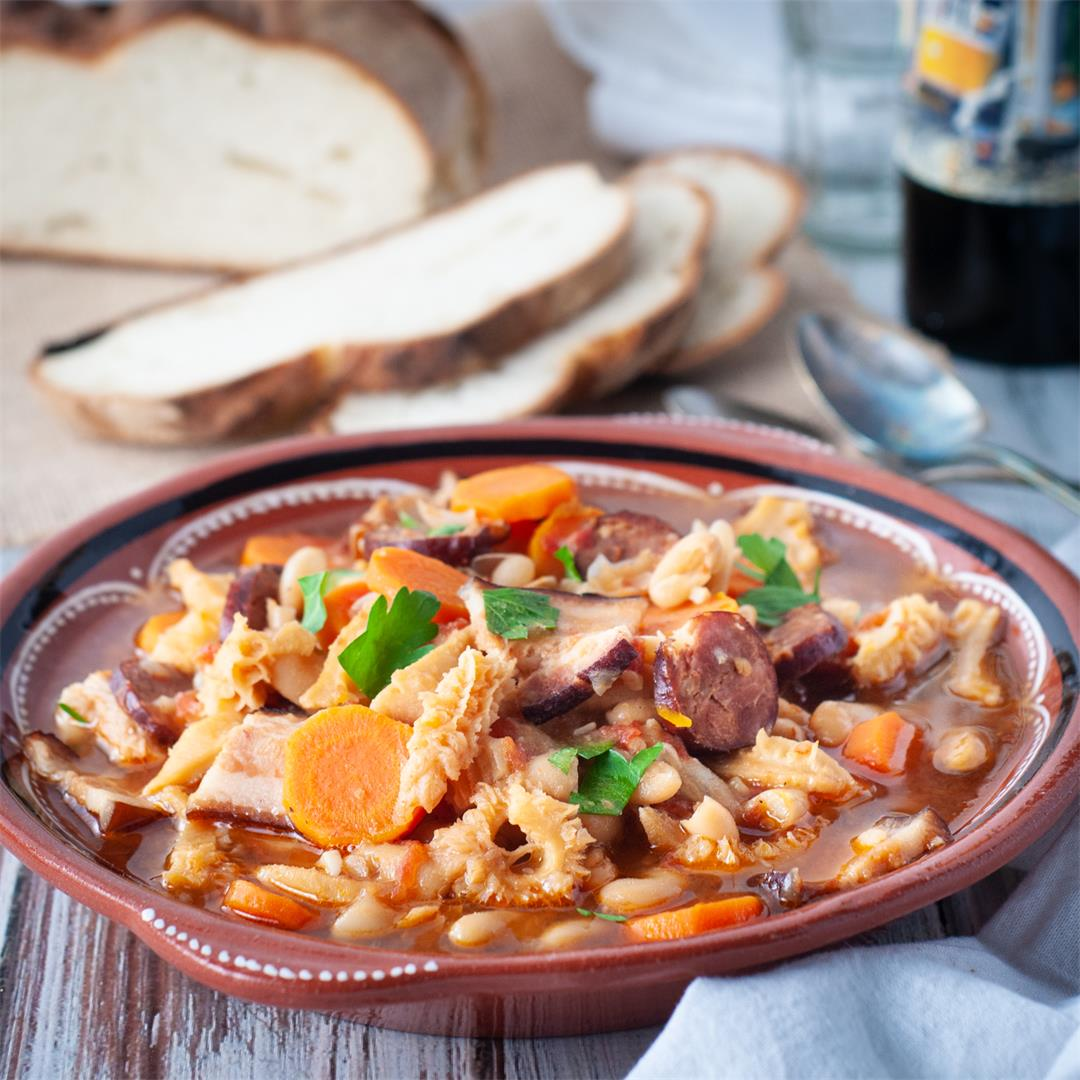 Dobrada - Portuguese tripe and bean stew.