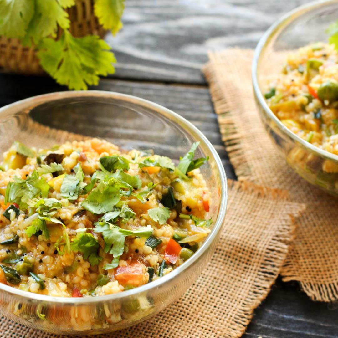 Jowar Upma : Gluten-free & vegan Sorghum millet Porridge
