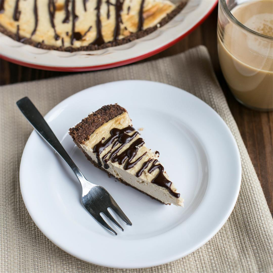 Baked Chocolate Coffee Cheesecake Pie