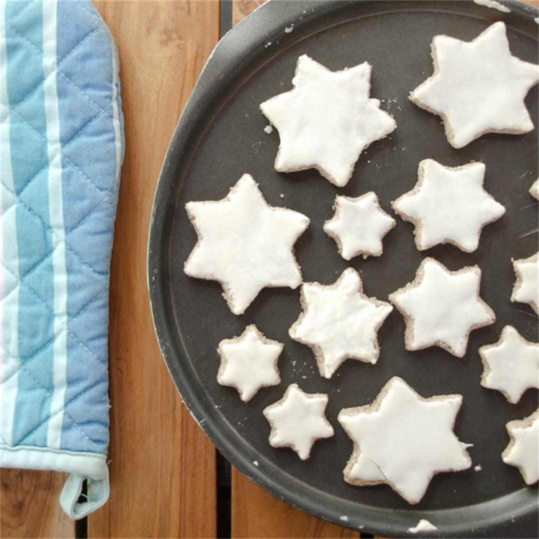 Gluten free star shaped Zimtsterne Cookies