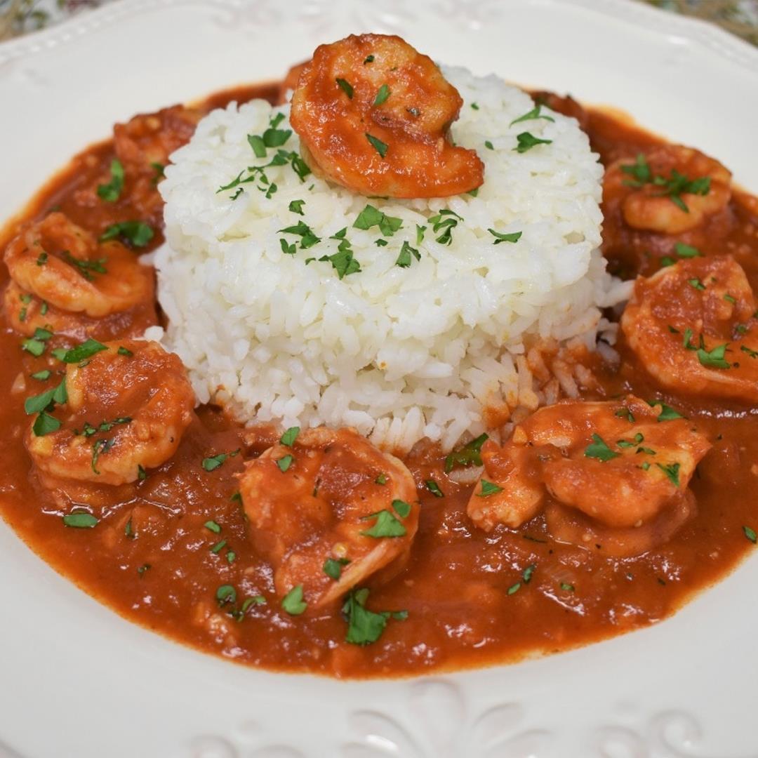 Camarones Enchilados - Cuban Style Spicy Shrimp