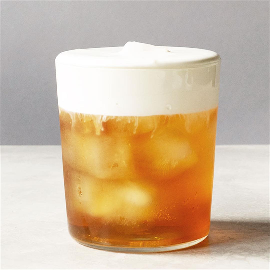 Earl Grey Iced Tea with Cream Froth