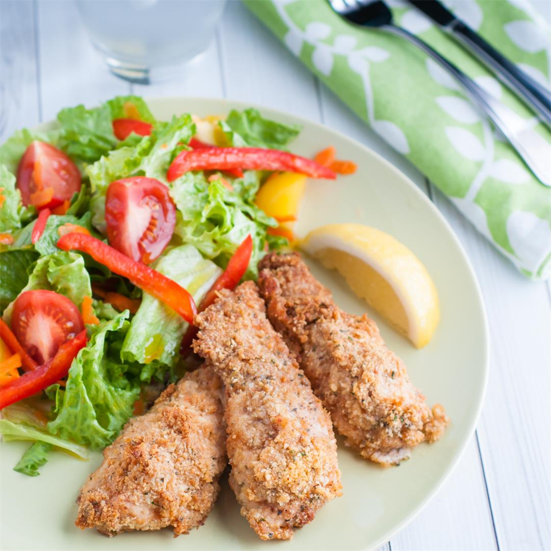 Mayo and Parmesan Baked Chicken Finger Recipe