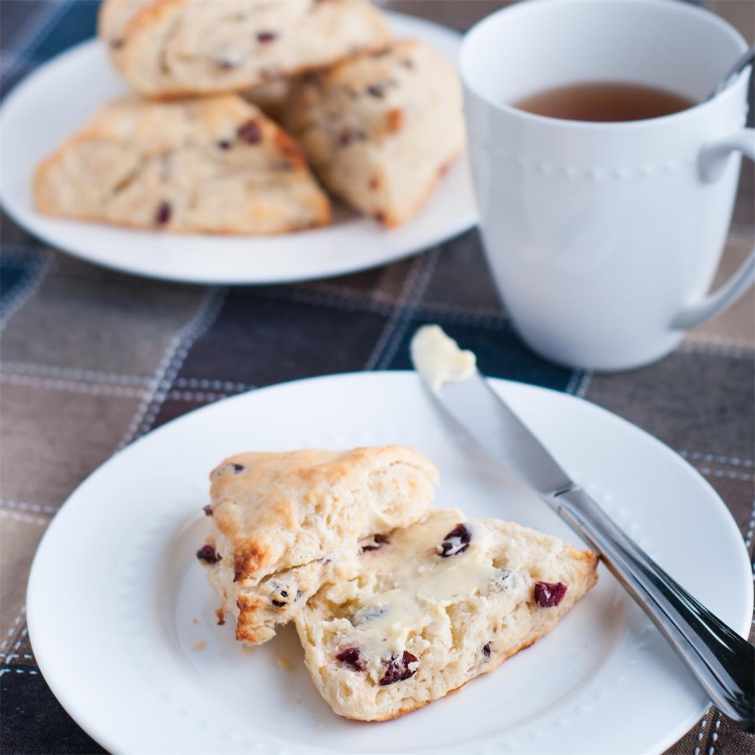 Cranberry Scones or Tea Biscuits