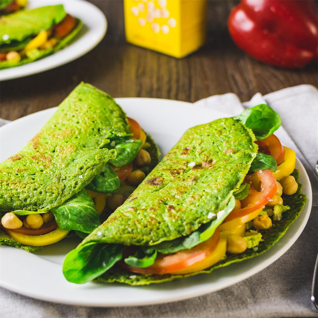 Green chickpea pancakes
