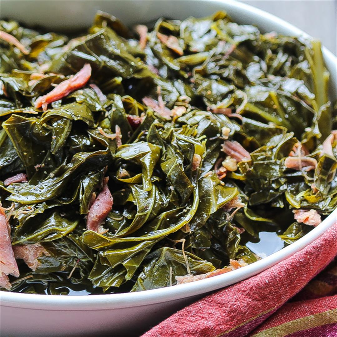Southern Collard Greens w/ Smokey Turkey