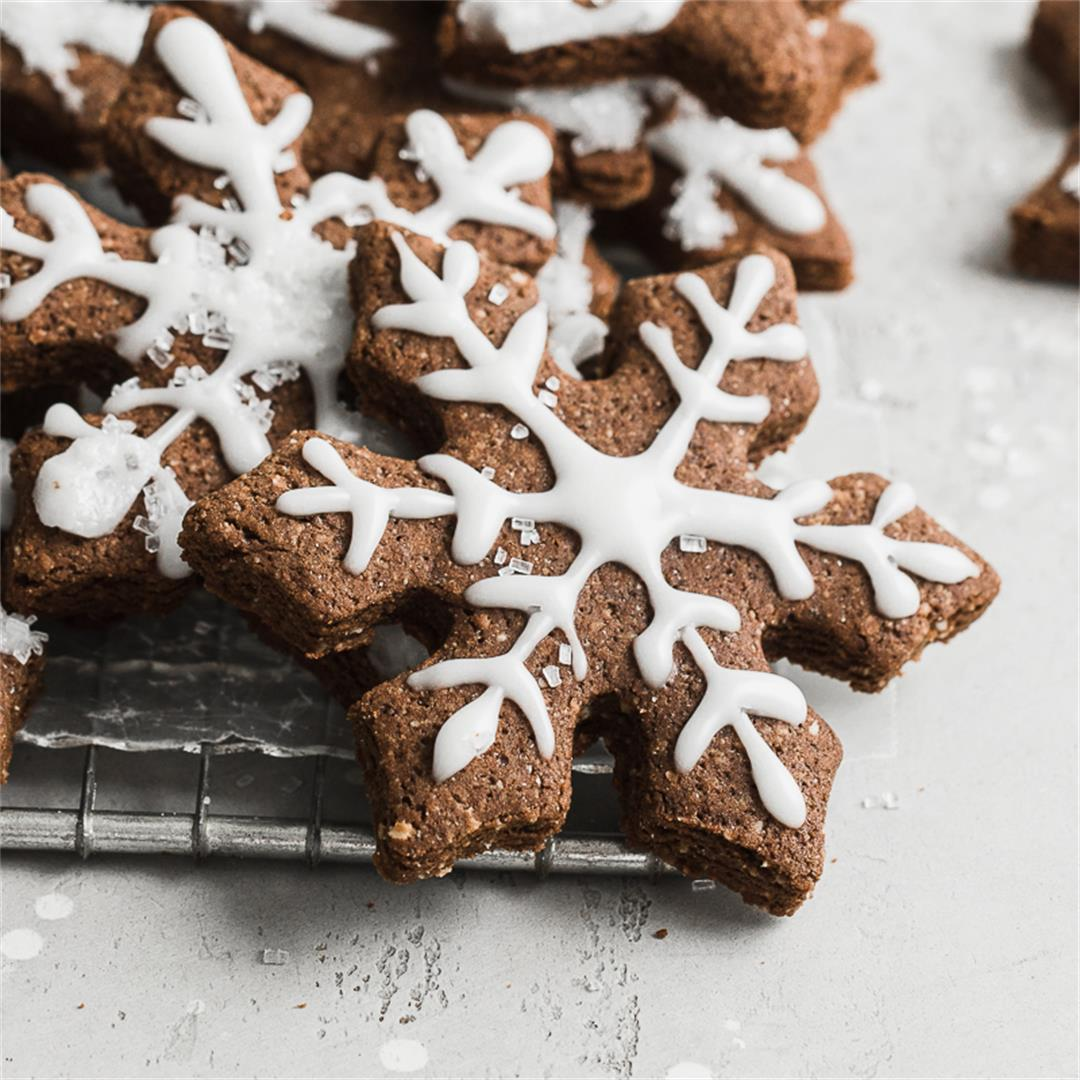 Chocolate Gingerbread Cookies made Gluten Free