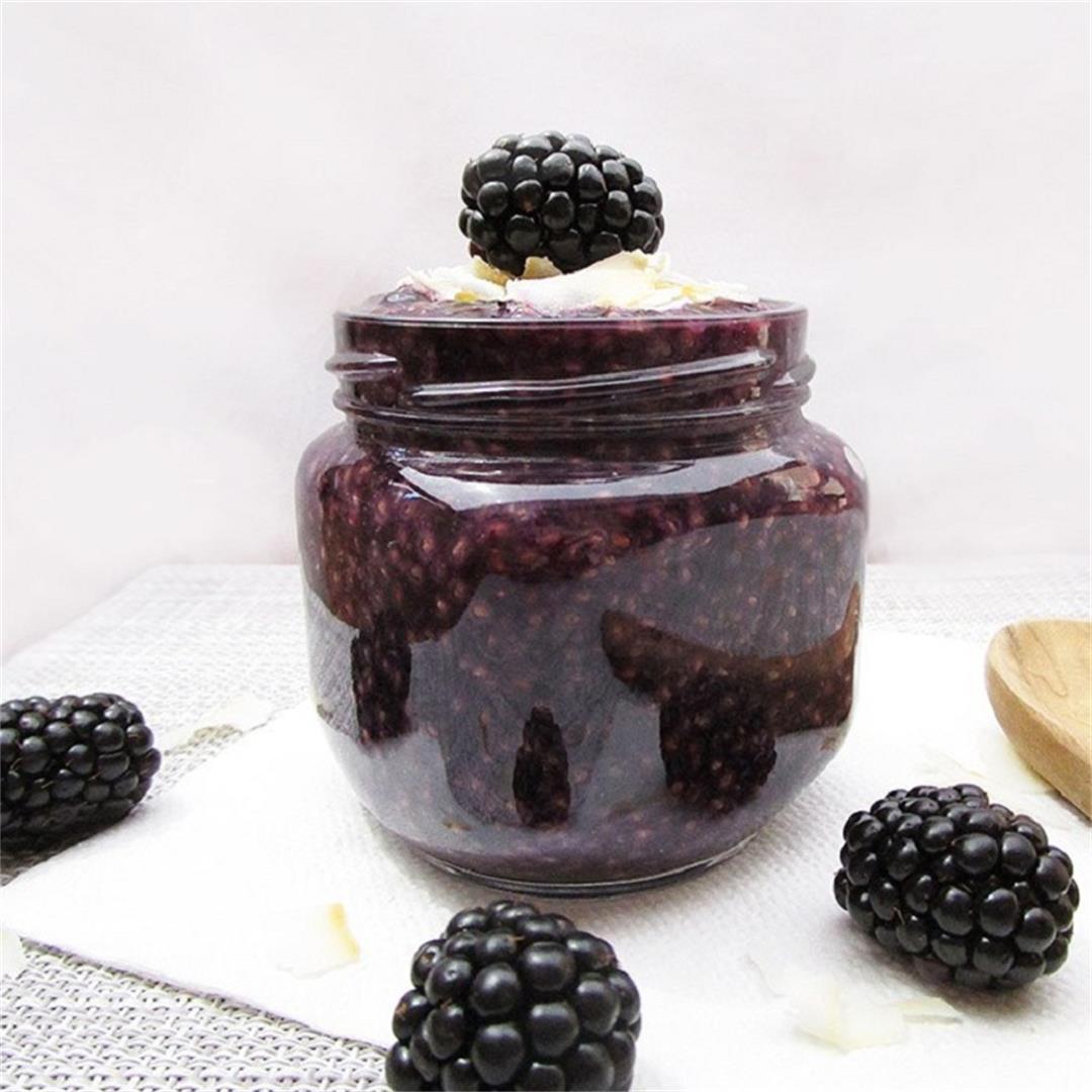 Blackberry Coconut Chia Pudding