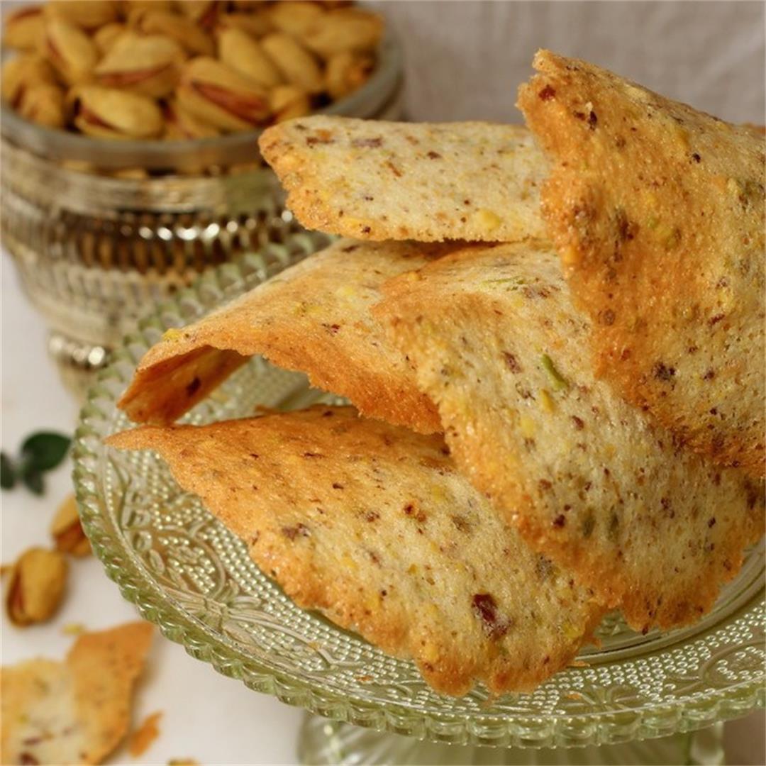 Almond Pistachio Tuiles (gluten-free)